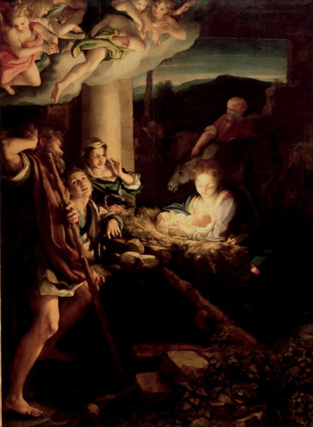 Antonio da Correggio, the Adoration of the Shepherds, 1529–1530, Gemäldegalerie Alte Meister, Dresden