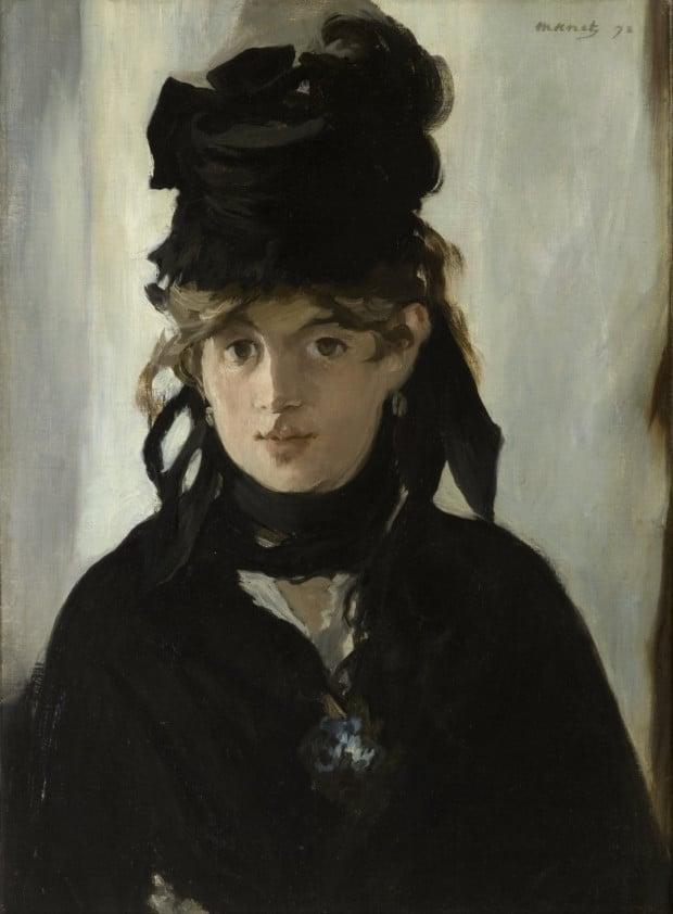 Édouard Manet, Berthe Morisot with a Bouquet of Violets, 1872, Musée d'Orsay.