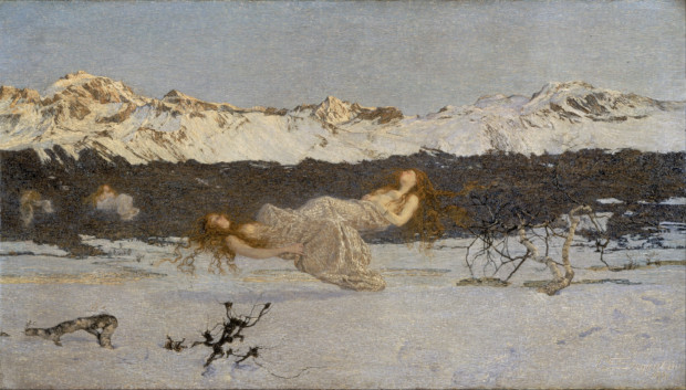 Giovanni Segantini, The Punishment of Lust, 1891, Walker Art Gallery