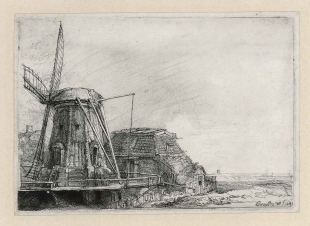 Rembrandt van Rijn, The mill, 1641. Etching, only state. The Rembrandt House Museum, Amsterdam
