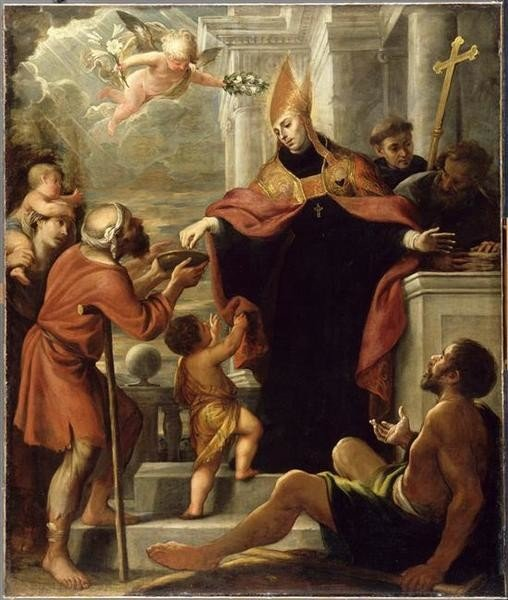Mateo Cerezo, St. Thomas of Villanueva Distributing Alms, 1645, Musée du Louvre