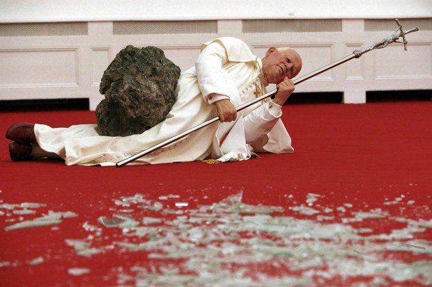 Maurizio Cattelan, The 9th Hour, 1999