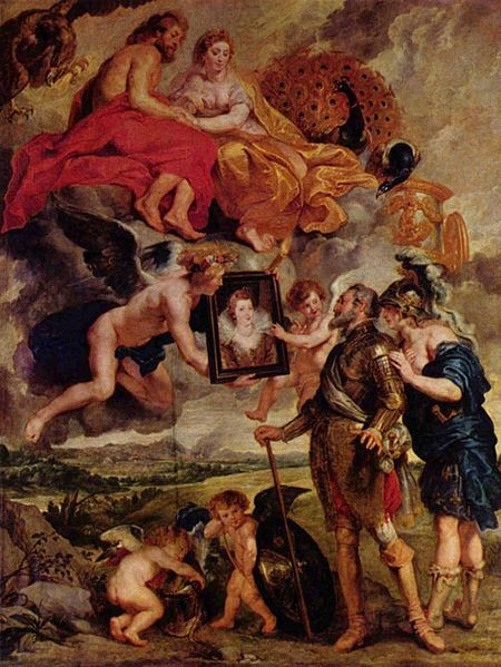 Peter Paul Rubens, The Presentation of Marie's Portrait to Henry IV, 1622-25, The Louvre