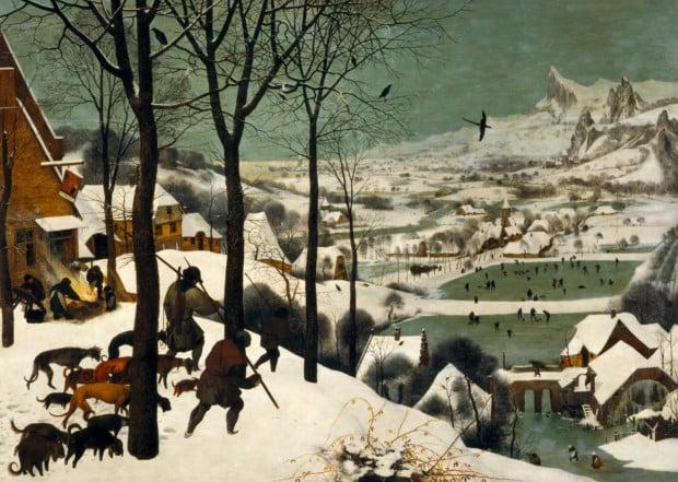 Pieter Bruegel the Elder, Hunters in the Snow, 1565, Kunsthistorisches Museum