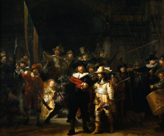 Rembrandt van Rijn, The Night Watch, 1642, Rijksmuseum Amsterdam