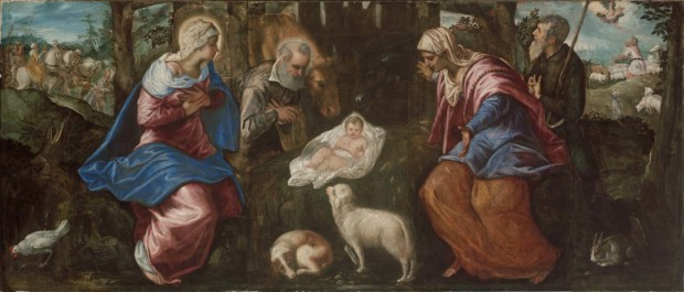 Jacopo Tintoretto, The Nativity, late 1550s, reworked 1570s, Museum of Fine Arts, Boston
