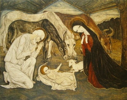 Tsuguharu Foujita, Birth Of Jesus Christ