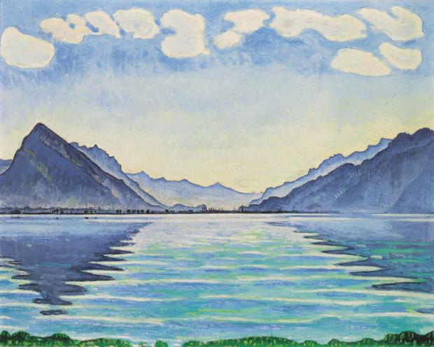 Ferdinand Hodler, Lake Thun, Symmetric reflection, 1905, Musée d`art et d`histoire, Geneve