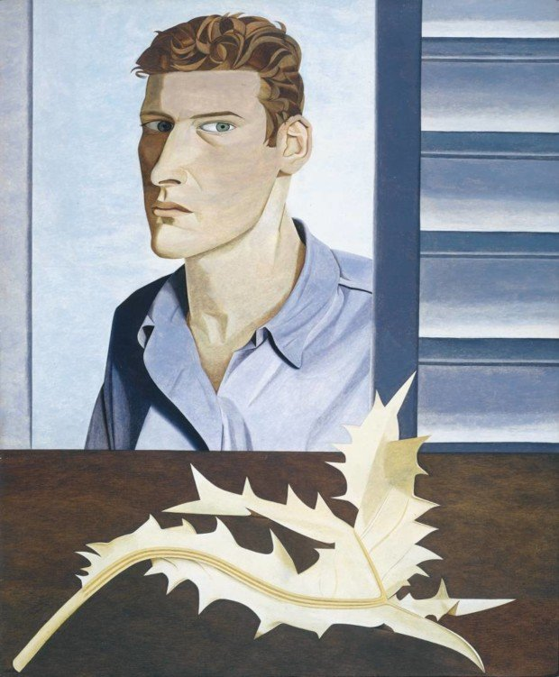 Man with a Thistle (Self-Portrait) 1946 Lucian Freud 1922-2011 Purchased 1961 https://www.tate.org.uk/art/work/T00422
