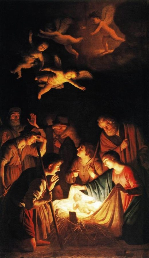 Gerrit von Horthorst, Adoration of the Shepherds, 1606, destroyed in 1993 by Italian Mafia in Via dei Georgofili bombing