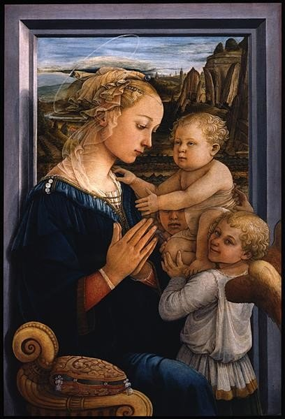 Filippo Lippi, Madonna And Child With Two Angels, 1465, Uffizi
