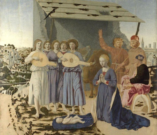 Piero della Francesca, Nativity, 1470-1475, National Gallery London