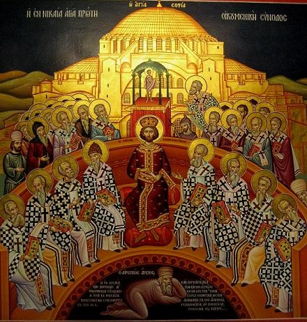 Council of Nicaea, original icon from Crete