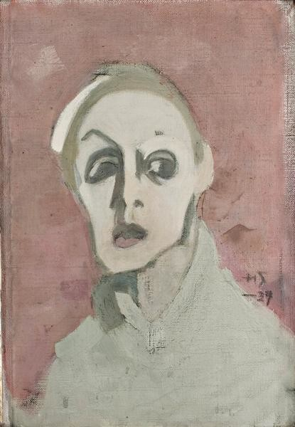 Self-Portrait With Black Mouth, 1939