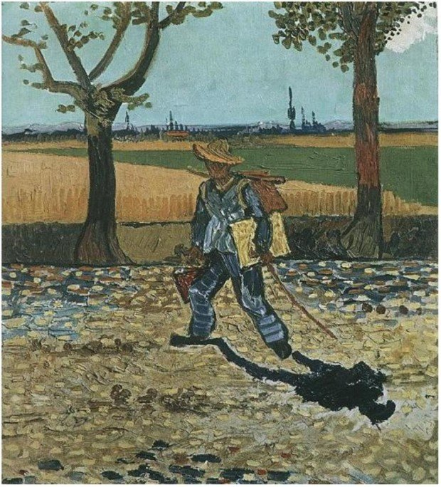 Vincent van Gogh, Painter on His Way to Work, 1886, destroyed