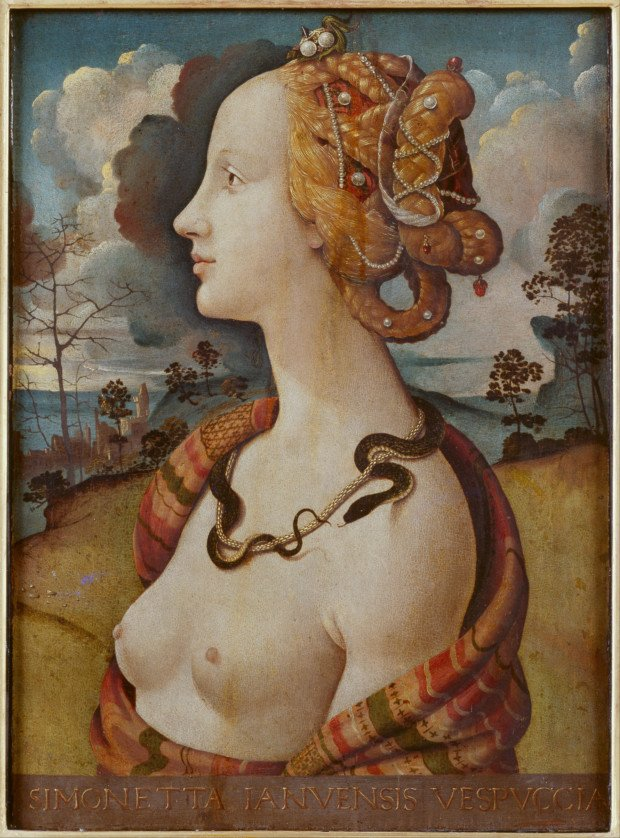 Piero di Cosimo. Portrait of a woman, said to be of Simonetta Vespucci, c. 1490, Château de Chantilly
