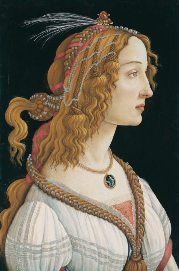 Sandro Botticelli, Simonetta Vespucci as a Mythological Nymph, ca. 1480 Frankfurt, Städel Museum