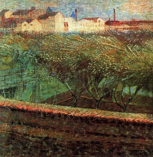 Umberto Boccioni, April Evening, 1908, Museo Civico di Belle Arti, Lugano