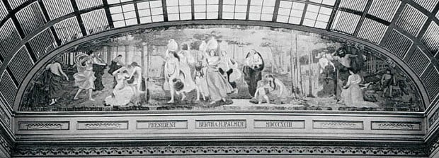 Mary Fairchild MacMonnies, Primitive Woman, mural in situ, Women's Building at the 1893 World's Columbian Exposition and Fair, Chicago, USA. The University of California, San Diego, CA, USA.
