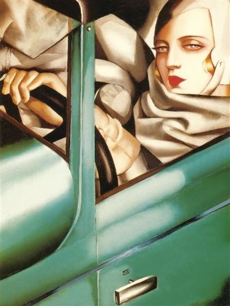 Tamara de Lempicka, My Portrait (Self-Portrait in the green Bugatti), 1929, private collection