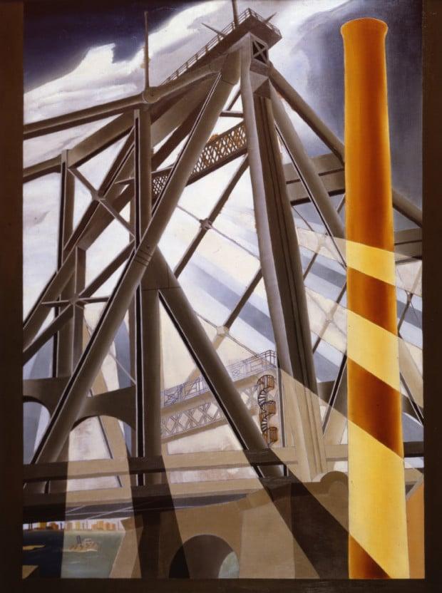 Elsie Driggs, Queensborough Bridge 1926, Montclair Art Museum