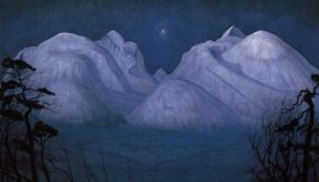 Harald Sohlberg, Winter Night in the Mountains