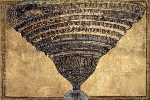 Sandro Botticelli, The Abyss of Hell, 1480s, Biblioteca Apostolica Vaticana, Rome