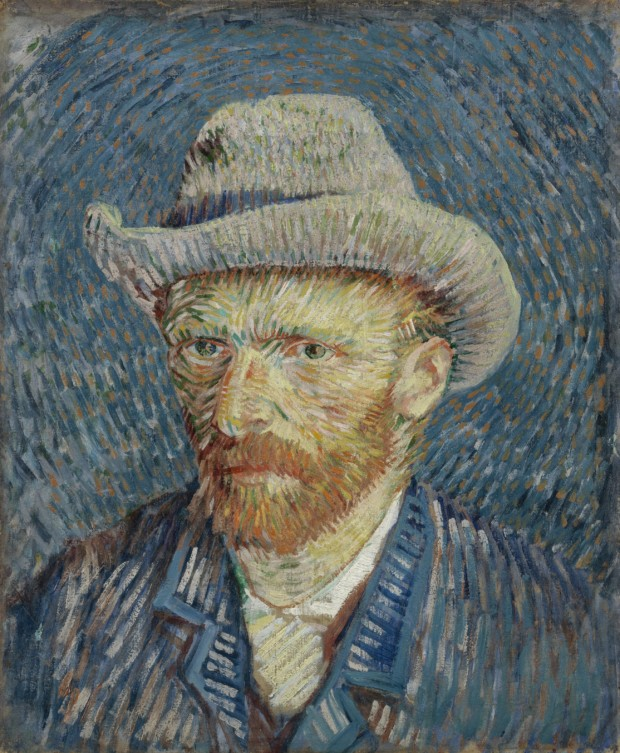 Vincent van Gogh, Self-Portrait with Grey Felt Hat , 1887, Van Gogh Museum, Amsterdam