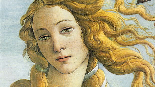 Sandro Botticelli, Birth of Venus (detail), 1484–1486, Uffizi Gallery, Florence