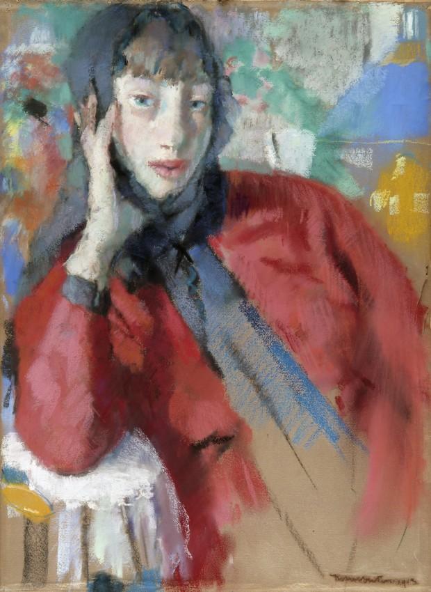 Woman with a mantilla, (1913), pastel on cardboard, 760 × 555 mm, Liège, Musée des Beaux-Arts de La Boverie, inv. AW 2190 © Liège, Musée des Beaux-Arts de La Boverie