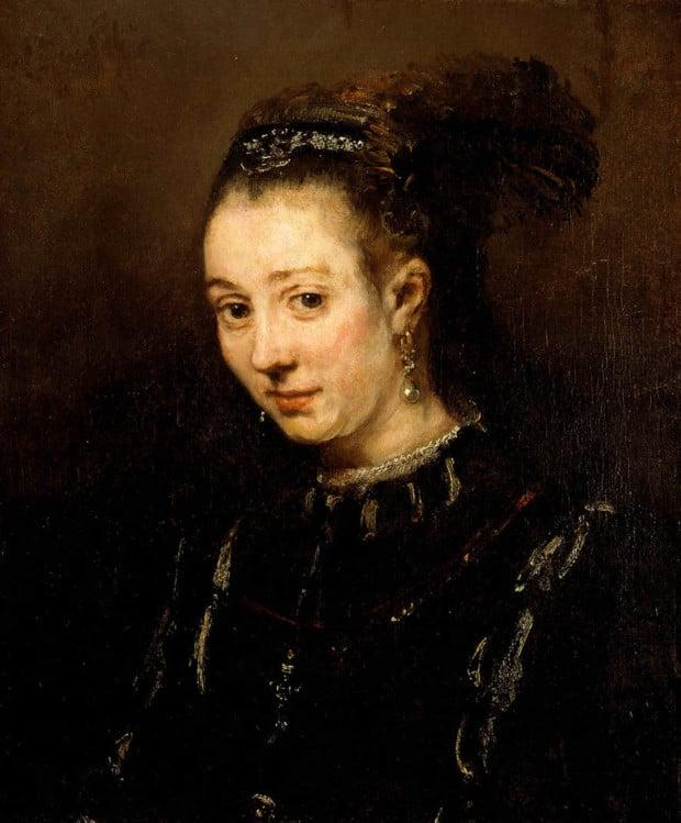 Rembrandt van Rijn, Portrait of a Young Woman (Magdalena van Loo?) About 1668