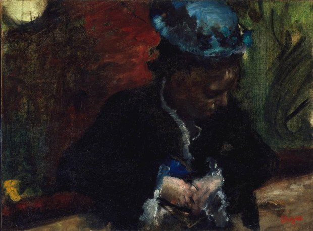 Edgar Degas, At the Theatre: Woman Seated in the Balcony, About 1877-1880, The Montreal Museum of Fine Arts