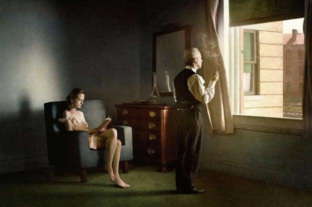 Richard Tuschman, Woman In The Sun I, Edward Hopper inspired photography