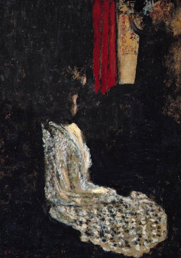 Édouard Vuillard, Seated Woman in a Dark Room, About 1895, The Montreal Museum of Fine Art