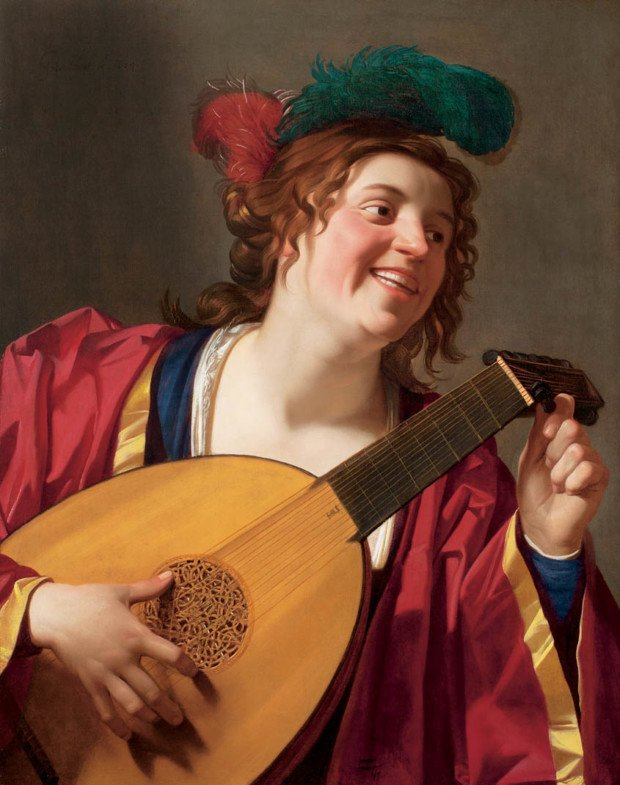 Gerrit van Honthorst, Woman Tuning a Lute 1624, The Montreal Museum of Fine Arts