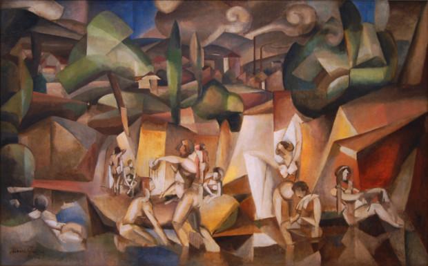 Albert_Gleizes,_1912,_Les_Baigneuses,_oil_on_canvas,_105_x_171_cm,_Paris,_Musée_d'Art_Moderne_de_la_Ville_de_Paris