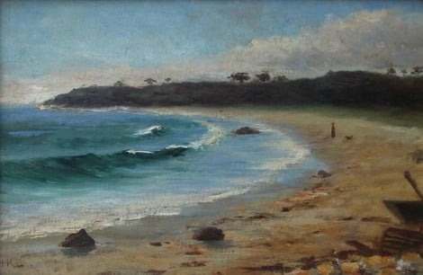 Beach Scene by Helen Mary Knowlton