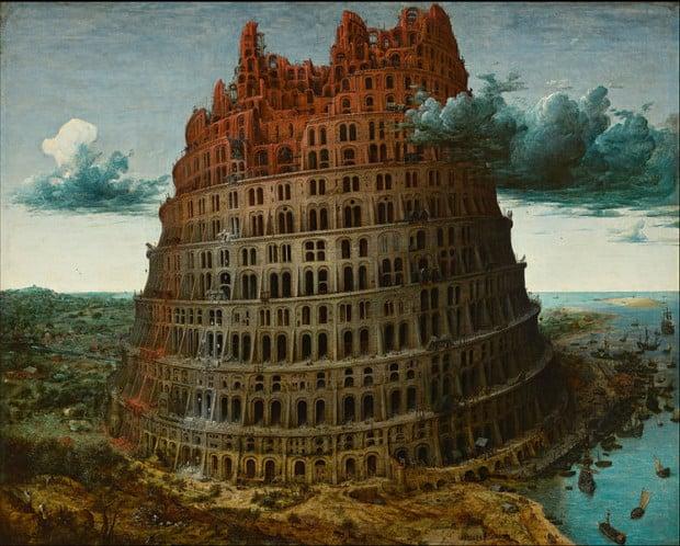 Pieter Brueghel the Elder, The Tower of Babel, circa 1563-1565, Museum Boijmans Van Beuningen, Rotterdam