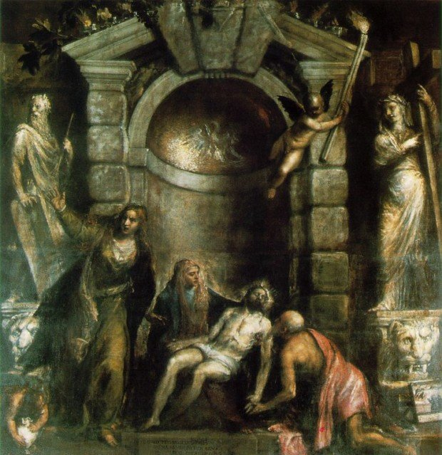 The last painting of Titian - Pietà, 1575–1575, Gallerie dell'Accademia, Venice