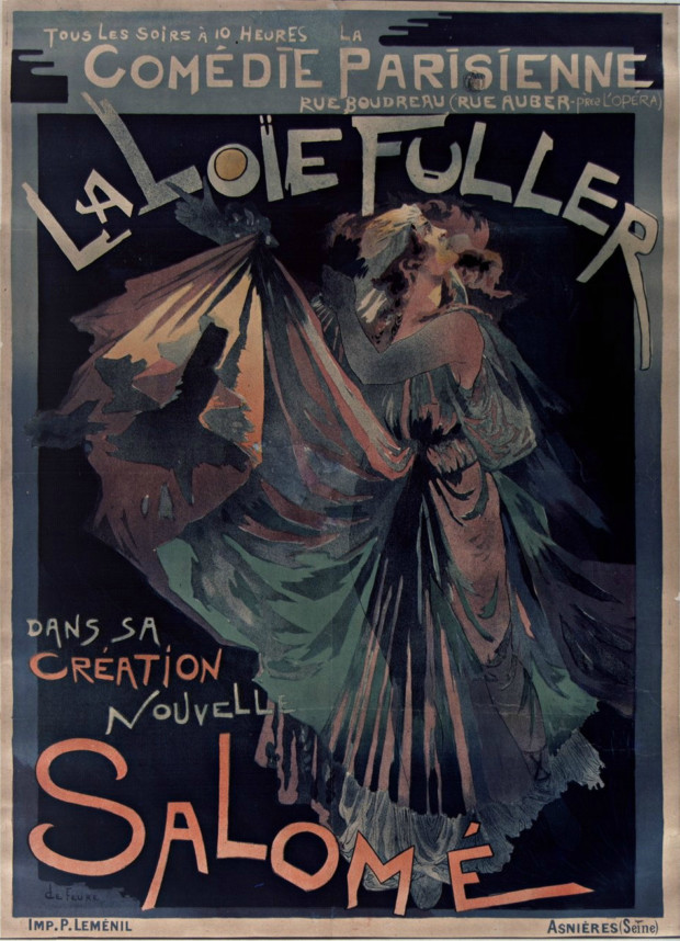 Poster for Loïe Fuller as Salomé, 1895. Artist: Georges de Feure National Library of France. Public Domain.
