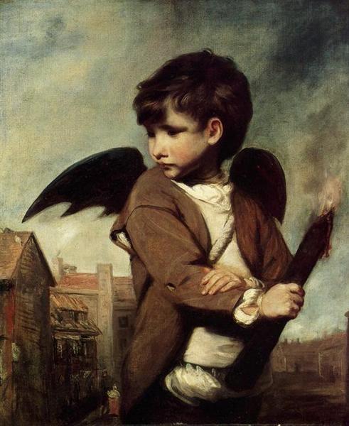 Joshua Reynolds, Cupid As A Link Boy, 1773, Albright-Knox Art Gallery, Buffalo, NY, US