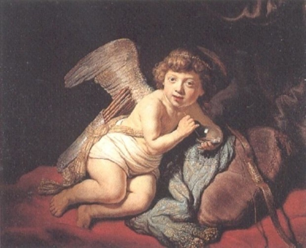 Rembrandt, Cupid Blowing Soap Bubbles, 1634, private collection