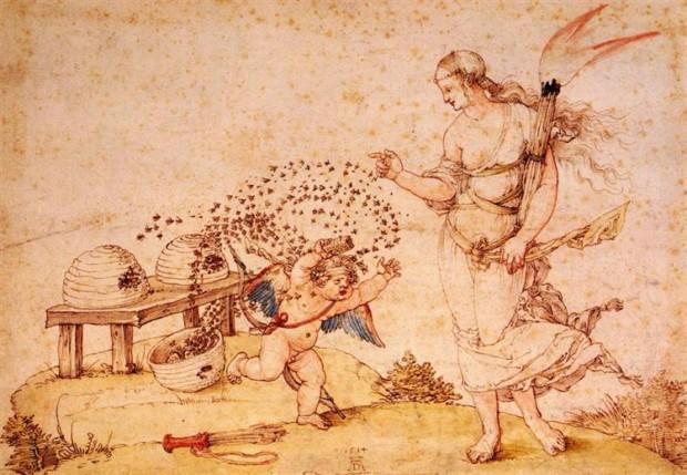 Albrecht Durer, Cupid The Honey Thief, 1514, Kunsthistorisches Museum, Vienna, Austria