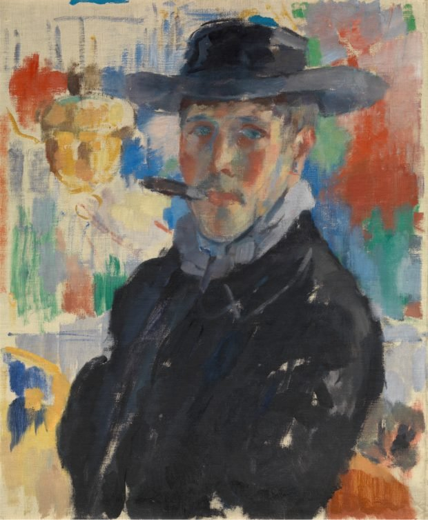 Self-portrait with cigar, (1913), oil on canvas, 66.4 × 55.8 cm, Antwerp, Koninklijk Museum voor Schone Kunsten Antwerpen, inv. 2062 © Lukas - Art in Flanders vzw. Photo Hugo Maertens