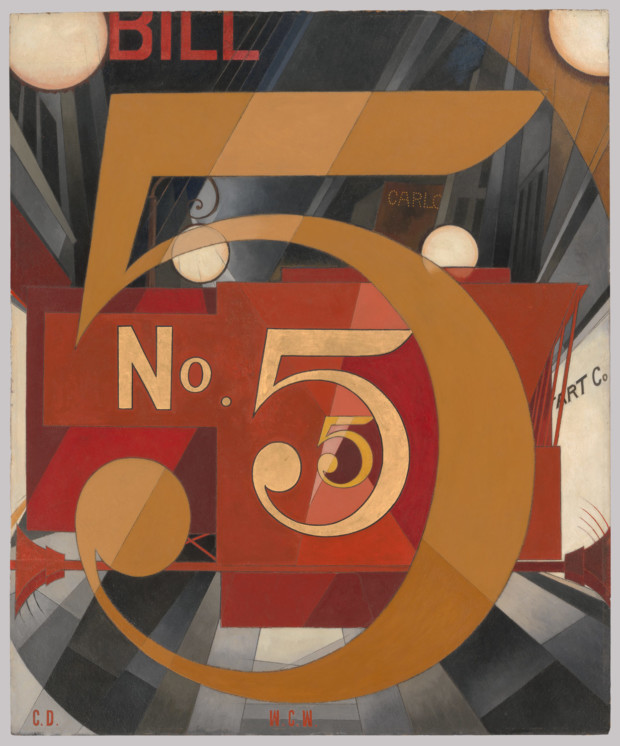Charles Demuth, The Figure 5 in Gold (1928) The Metropolitan Museum of Modern Art, New York