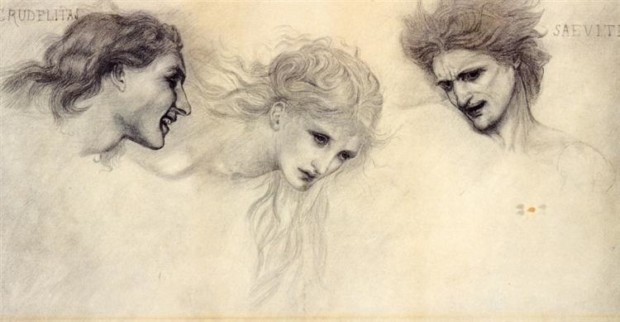 Edward Burne-Jones, Head Study For The Masque Of Cupid, no date, private collection