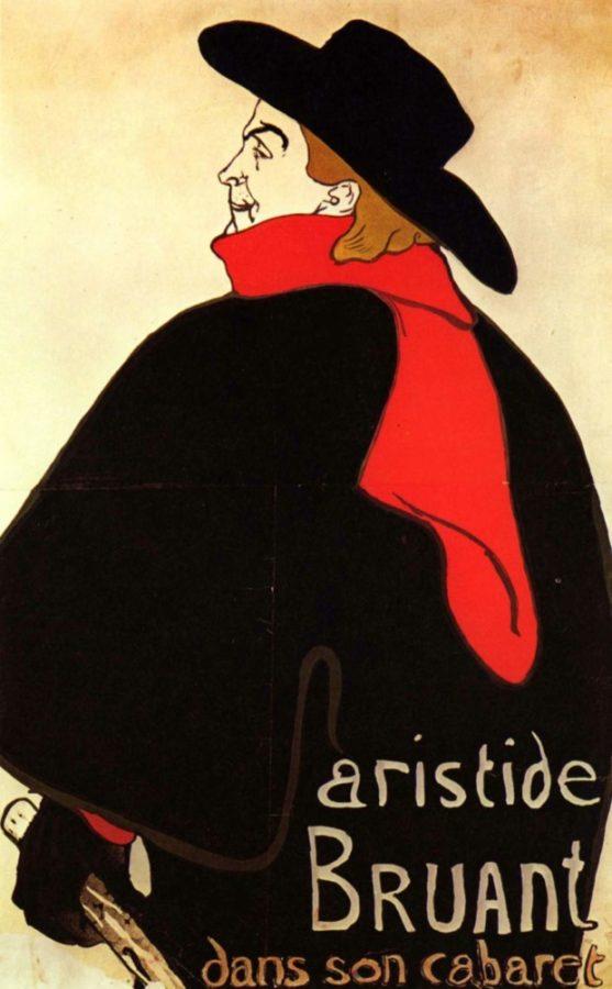 Henri de Toulouse-Lautrec, Aristide Bruant in his Cabaret,1893, Cincinnati Art Museum