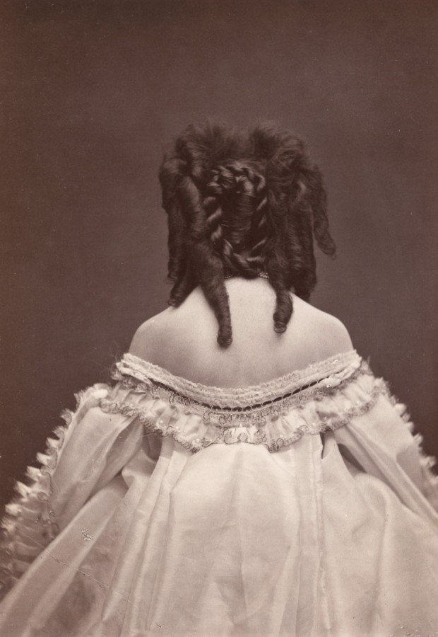 Pierre-Louis Pierson, The Countess of Castiglione's back and hair, The Metropolitan Museum of Art, New York, NY, USA. Virginia Oldoini