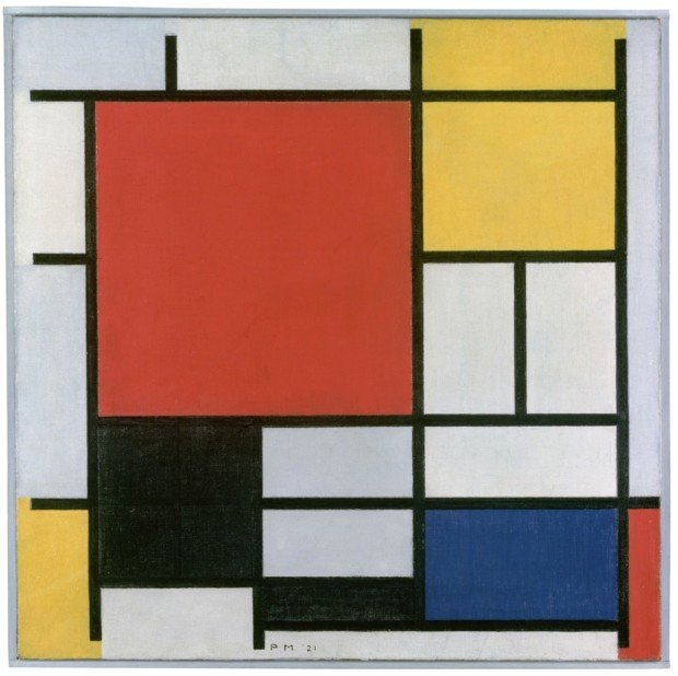 Piet Mondrian, Piet Mondrian, Composition with Large Red Plane, Yellow, Black, Grey and, 1921, Gemeentemuseum Den Haag