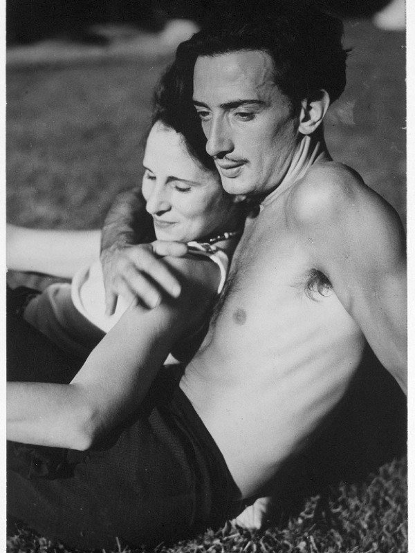 ca. 1930– Salvador Dali and Gala in Port Lligat, a fishing village near Cadaques, before they married.